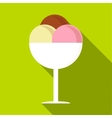 Mixed ice cream in a bowl icon flat style vector image