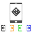 mobile email icon vector image