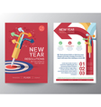 New Year Resolutions target concept vector image vector image