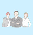 office workers team concept vector image vector image