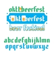 Oktoberfest beer festival lettering vector image
