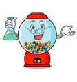 professor gumball machine character cartoon vector image vector image