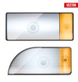 rectangular car headlight vector image vector image
