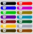 RSS feed icon sign Big set of 16 colorful modern vector image