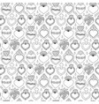 sacred heart seamless pattern vector image vector image