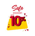 sale discount up to 10 template design vector image vector image
