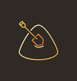 sand and shovel concept colored icon in vector image vector image