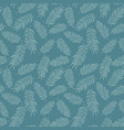 seamless pattern with white tropical leaves vector image vector image
