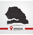Senegal map vector image