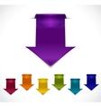 set 3d arrow stickers vector image