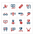 Set color icons of television vector image