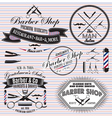 set icons on a theme hair salon vector image vector image