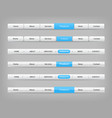 set of blue and gray various navigation bar vector image vector image