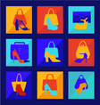set of woman fashion women bag vector image vector image