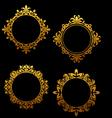 set vintage golden frames vector image vector image