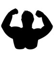 silhouette of body builder vector image