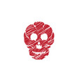 skull icon design vector image