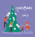square banner for christmas sale vector image