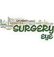 the different types of eye sugery text background vector image vector image