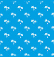 two palms pattern seamless blue vector image vector image