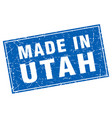 utah blue square grunge made in stamp vector image vector image