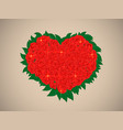 valentine with a bouquet of brilliant red roses vector image vector image