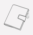 wallet icon line element of vector image vector image