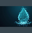 water splash and water drop abstract 3d polygonal vector image