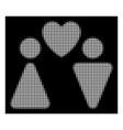 white halftone love couple icon vector image