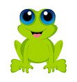 isolated cute frog vector image