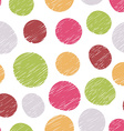Hand drawn pattern from colorful circles vector image