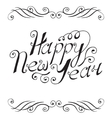 Happy New Year hand lettering vector image
