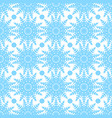 symmetric seamless pattern of snowflakes and vector image