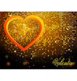 Valentine mosaic disco wall and text nackground vector image