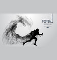 abstract silhouette of a american football player vector image vector image