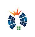 alternative renewable energy solar panel logo icon vector image vector image