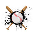baseball with baseball bat vector image vector image