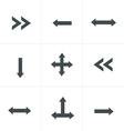 black arrow icons vector image vector image