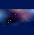 blue night sky with purple sunset light galaxy vector image