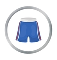 Boxing shorts icon in cartoon style isolated on vector image vector image