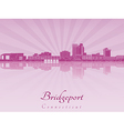 Bridgeport skyline in purple radiant orchid vector image vector image
