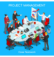 Business Room 01 People Isometric vector image vector image