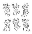 Chinese zodiac Monkey vector image