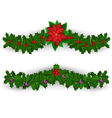 Christmas border decoration set vector image
