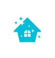 clean house logo icon design template vector image