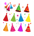 colorful birthday party hats celebration vector image vector image