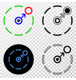 composition of gradiented dotted move to circle vector image