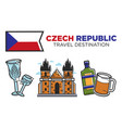 czech republic travel destination promotional vector image vector image