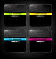 Dark Template Design for Businesses vector image