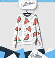 Design sweatshirt with prints of watermelons vector image vector image